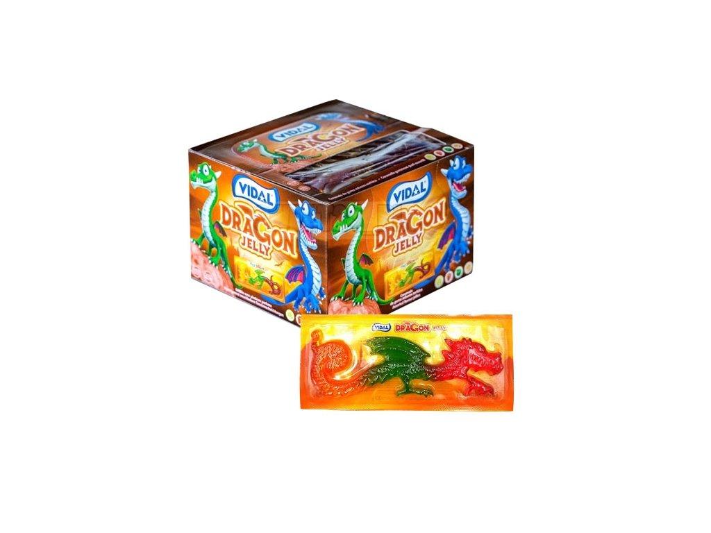 Vidal Dragon jelly želé drak 33g 22ks
