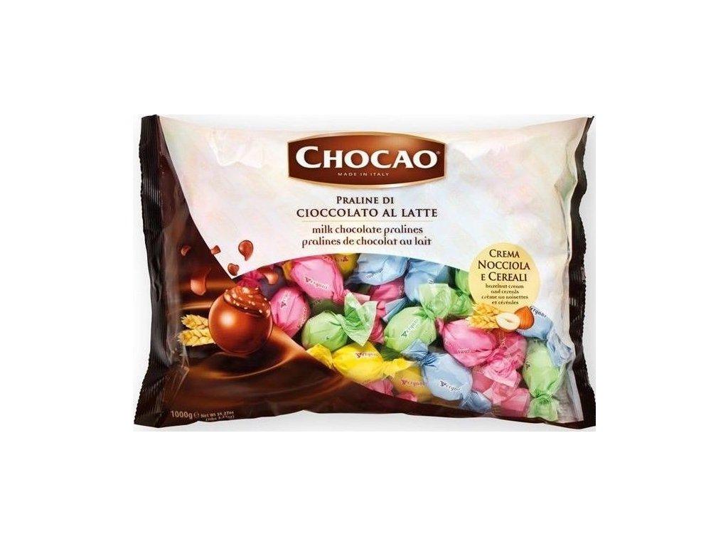 Vergani Směs Pastelových pralinek z mléčné čokolády plněné krémem z lískových oříšků a obilovin 1kg