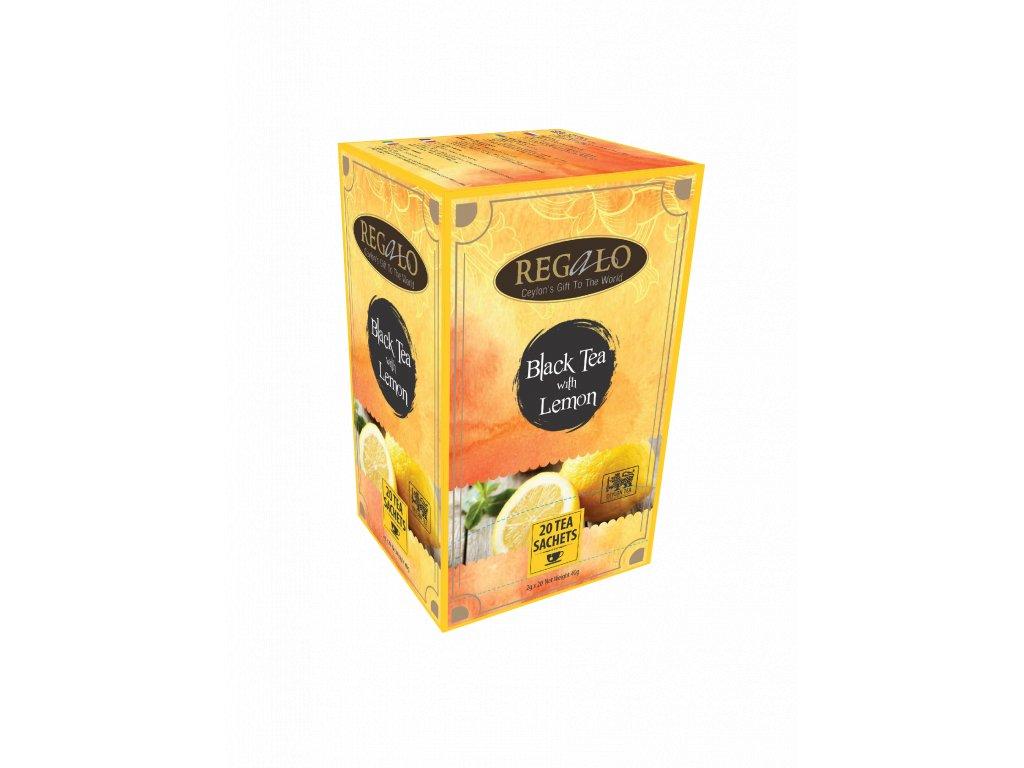 Regalo Černý čaj s citrónem 20x2g