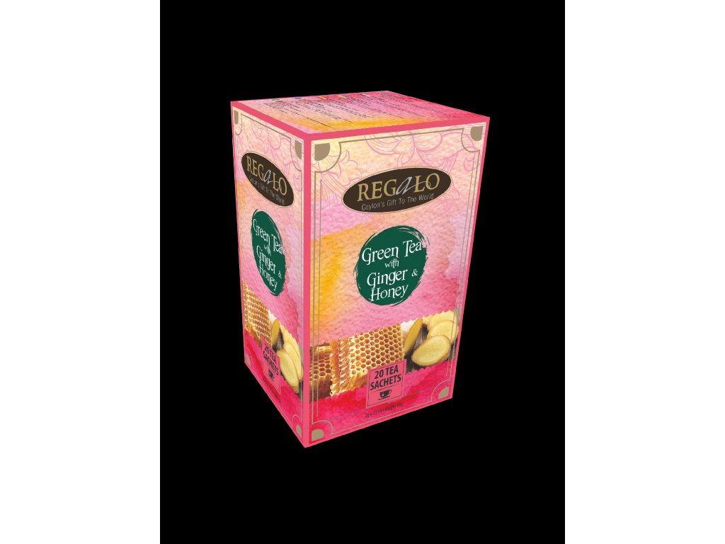 Regalo Zelený čaj Zázvor Med 20x2g