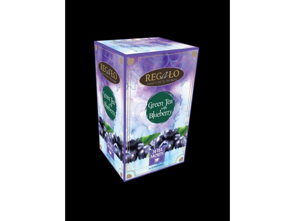 Regalo Zelený čaj Borůvka 20x2g