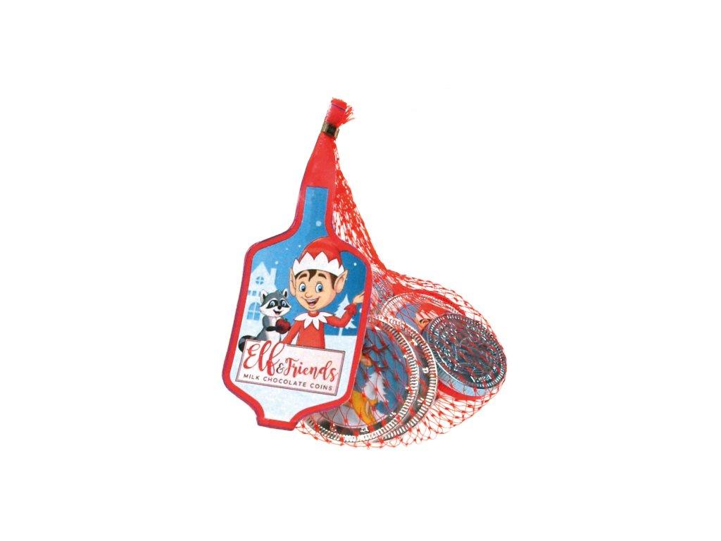 Elf and Friends Čokoládové mince z mléčné čokolády 50g