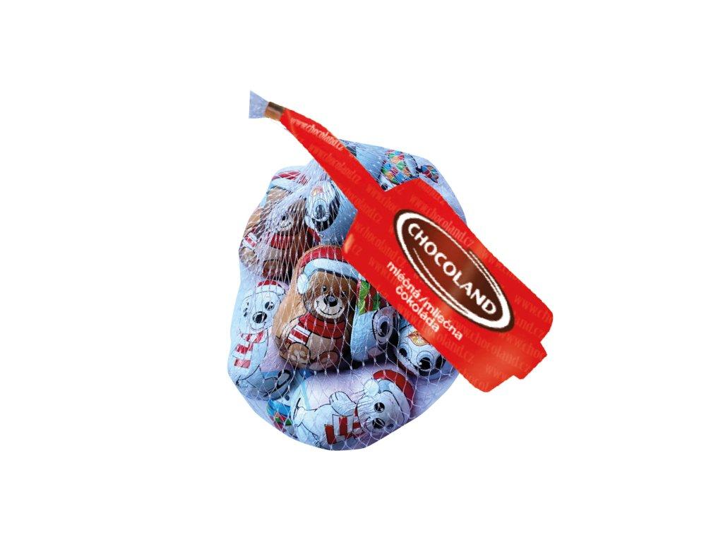 Chocoland Vánoční mix figurek síťka 100g