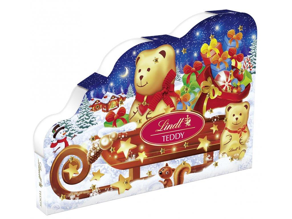 Lindt Adventní kalendář Teddy a sáně 265g