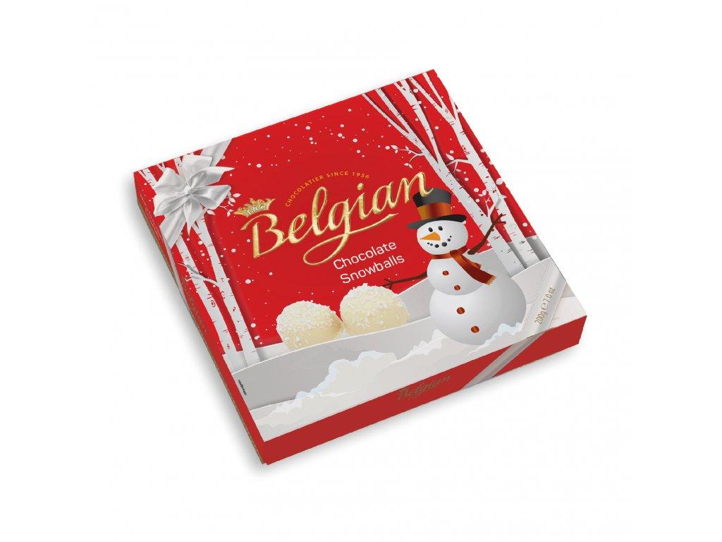 Belgian Sněhové koule v bílé čokoládě s kokosem 200g