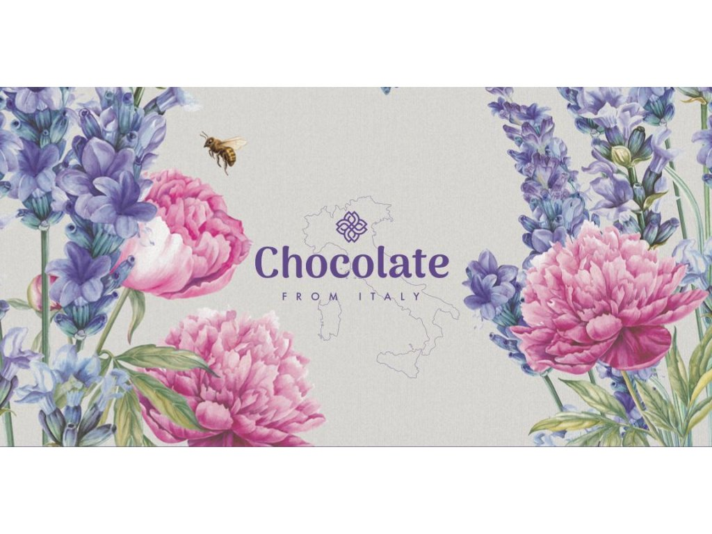 Chocolate from Italy Mléčná čokoláda Levandule 100g