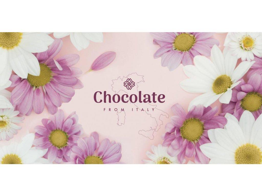 Chocolate from Italy Oříšková čokoláda motiv kopretina 100g