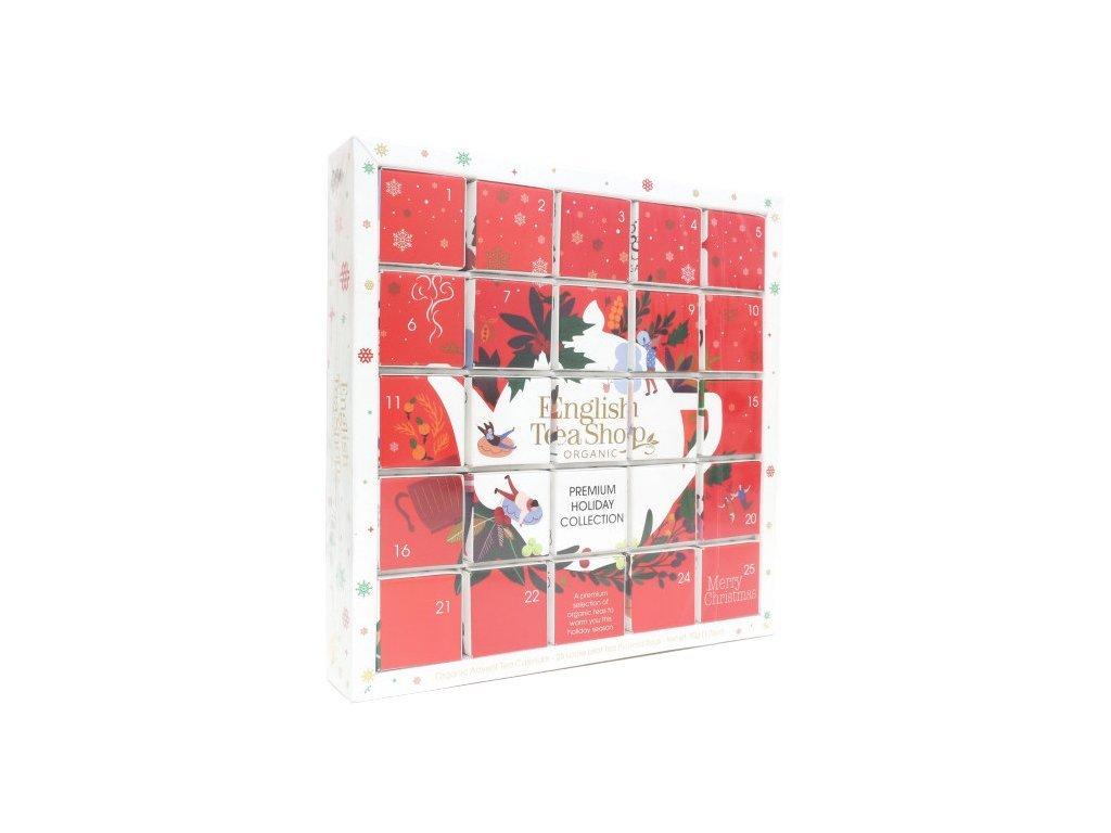 English Tea Shop Červený adventní kalendář Puzzle 48 g, 25 ks bio English Tea Shop2