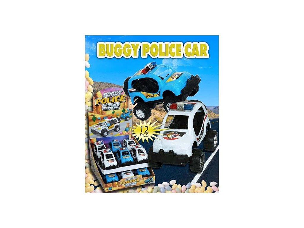 Buggy Policejní auto s cukrovinkou 5g 12ks