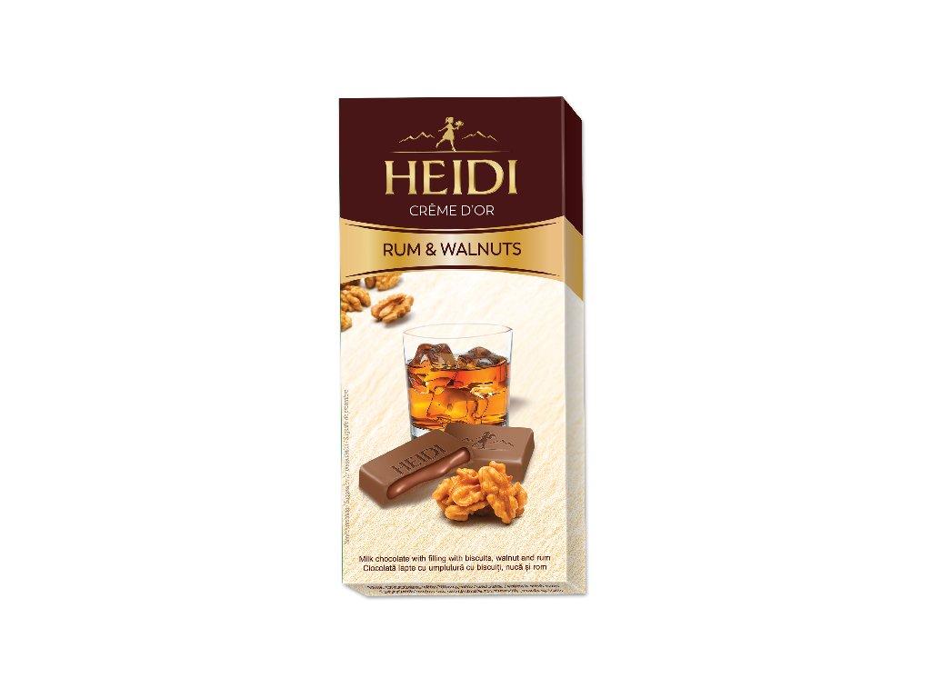 Heidi Creme Walnuts Rum 90g