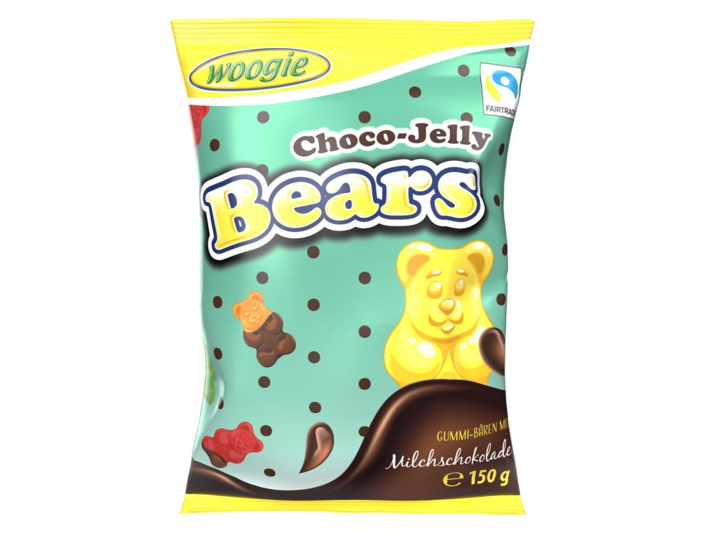 Woogie Choco jelly bears Želatinoví medvídci v čokoládě 150g