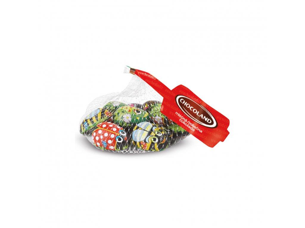 Chocoland Zvířátka z mléčné čokolády plněná mléčným krémem 75g