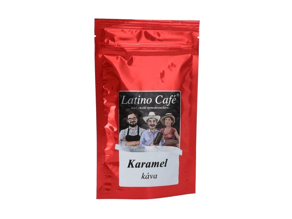 Latino Café Zrnková káva karamel 100g