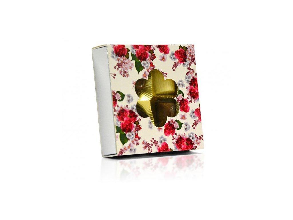 Belgické pralinky Květinový motiv (výřez květina) 50g