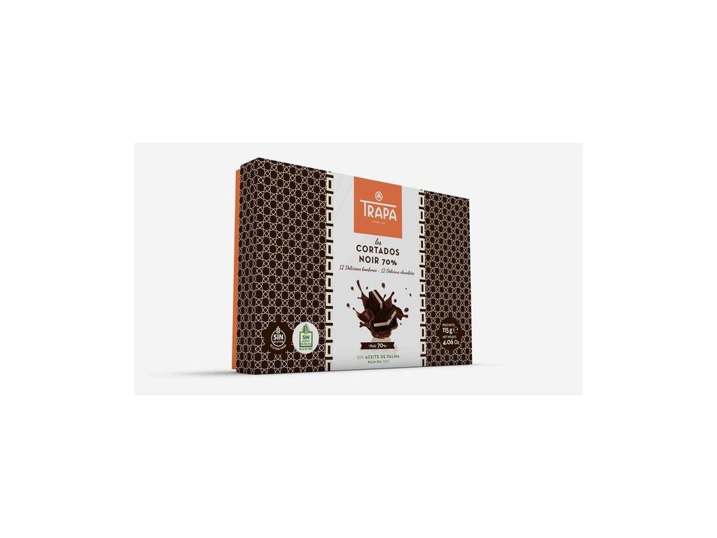 Trapa Cortados Noir 70% Směs pralinek z hořké čokolády 115g