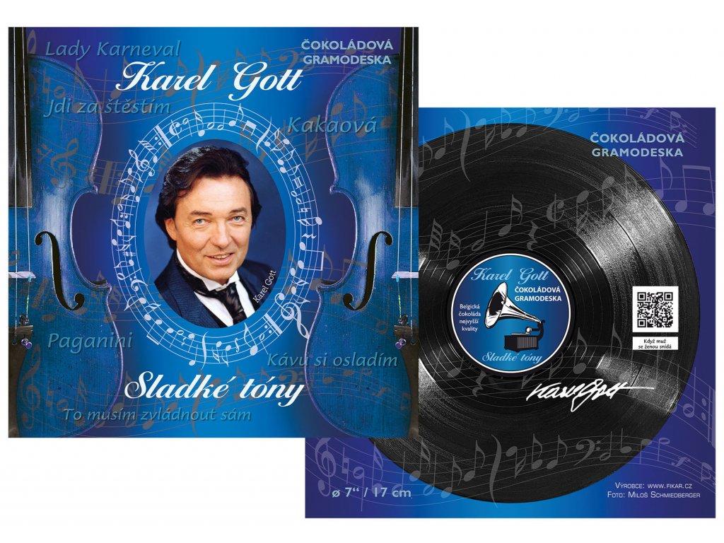 Čokoládová gramofonová deska Karel Gott 80g modrá
