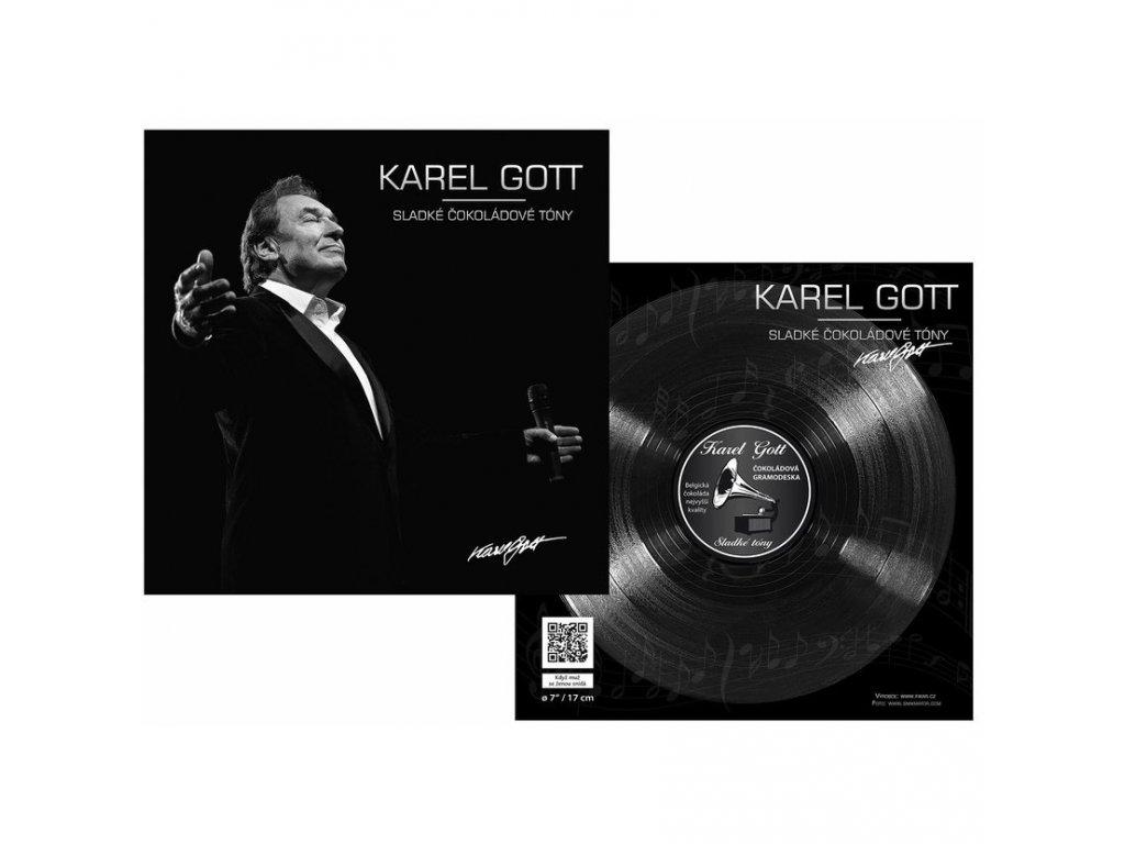 Karel Gott Čokoládová gramofonová deska 80g motiv 2