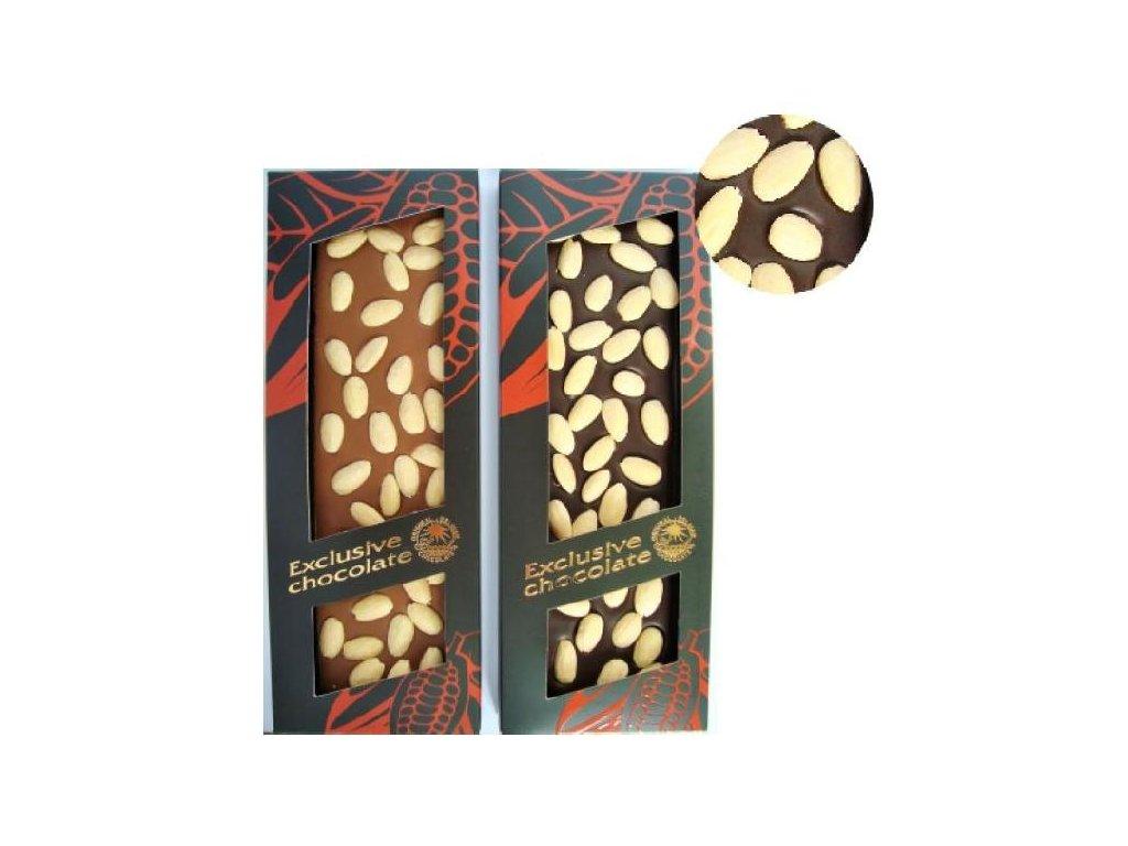 Severka belgická hořká čokoláda s mandlemi 150g