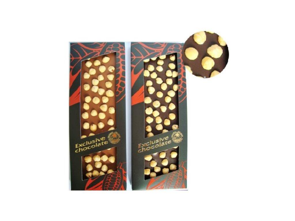 Severka Luxusní hořká čokoláda s celými lískovými oříšky 150g