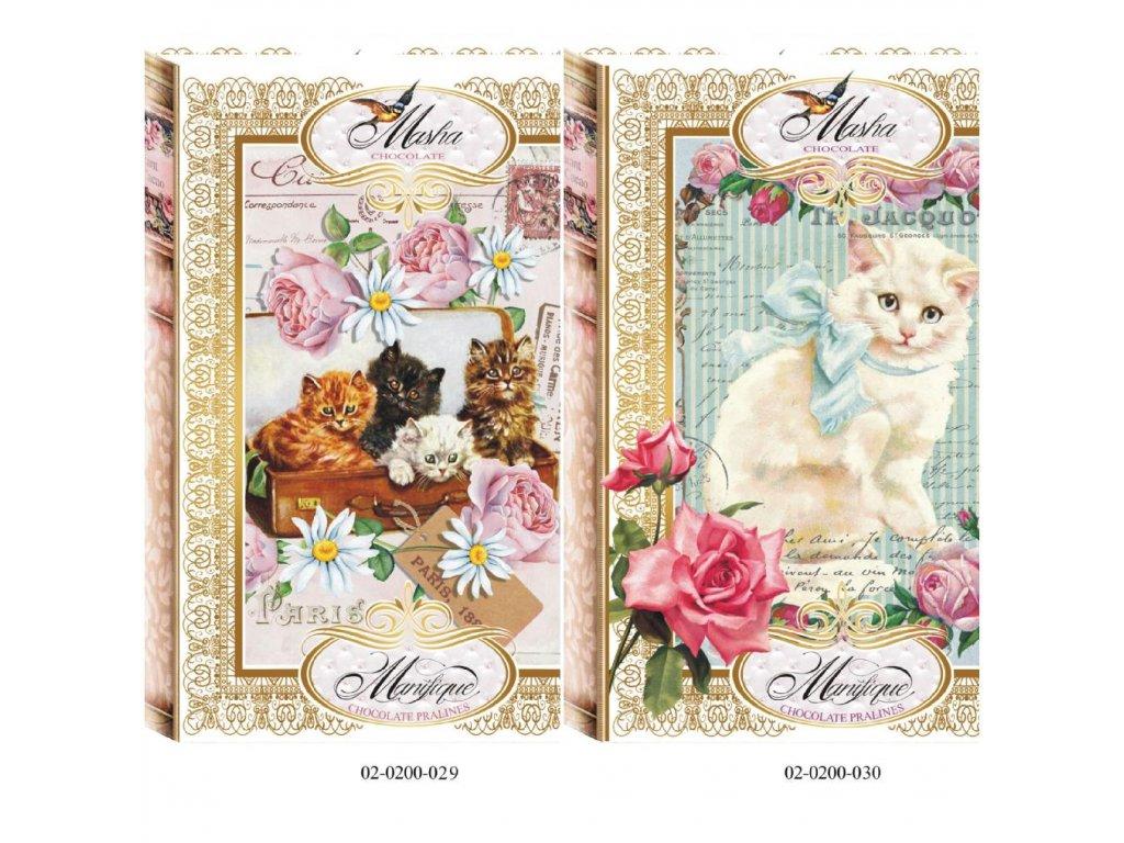 Masha Bonboniéra Kniha motiv kočičky 200g