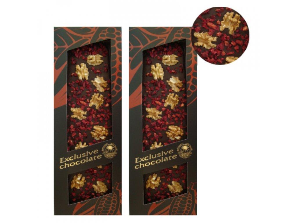 T-Severka Mléčná čokoláda formovaná s vlašskými ořechy a višněmi 130g