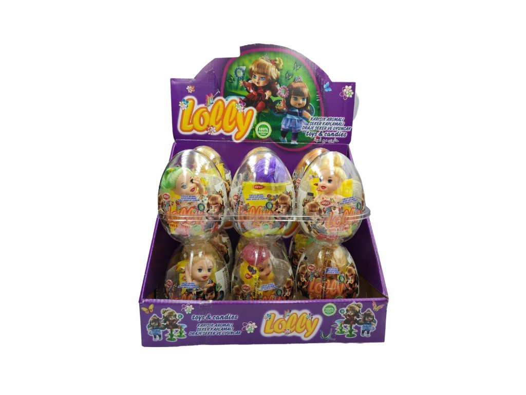 Lolly toy egg plastové vajíčko s překvapením 10g
