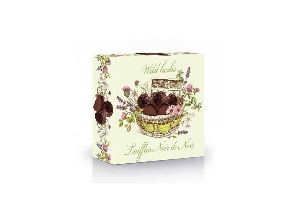 Luční kvítí Belgické plněné lanýže s kousky kakaových bobů a posypem z hořké čokolády 42g