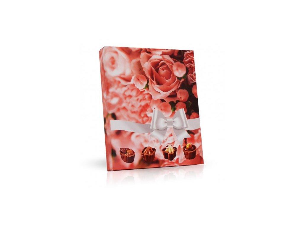 Plněné čokoládové pohárky Květy s mašlí 110g