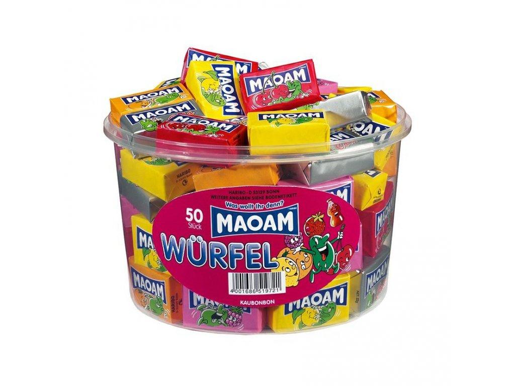 Haribo Maoam Bloxx Žvýkací bonbóny s příchutí 1100g (dóza 50ks)