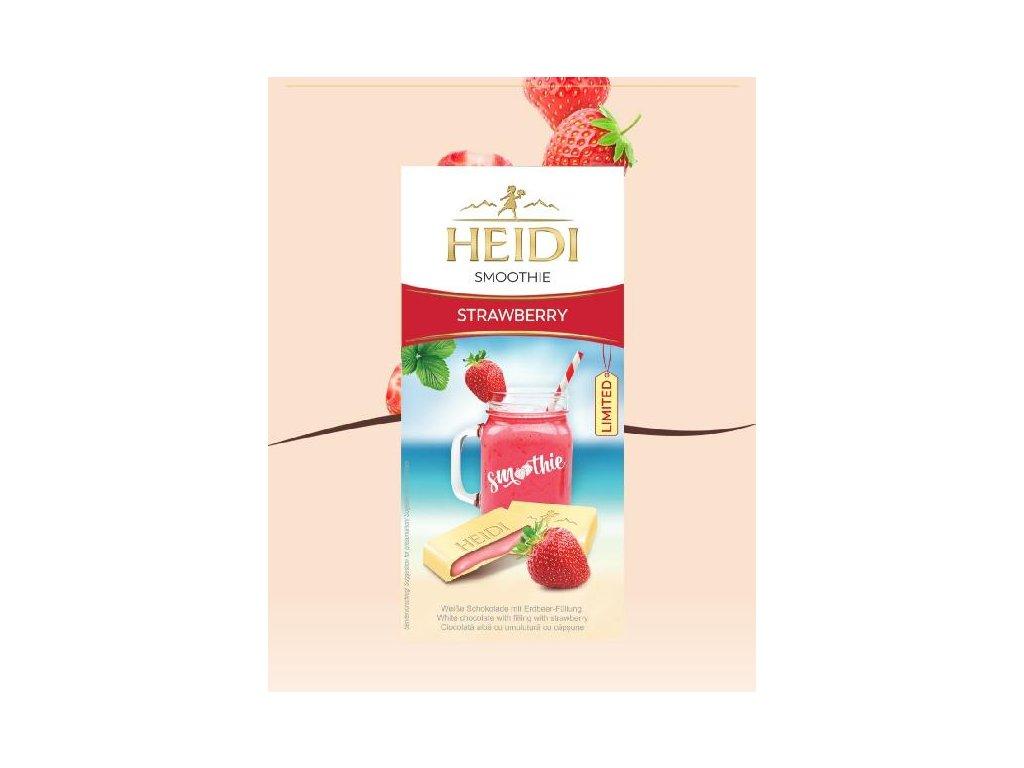 Heidi Smoothie Strawberry Mléčná čokoláda s jahodovou náplní 90g
