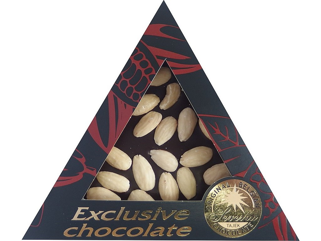 Severka Mléčná čokoláda s mandlemi trojúhelník 60g