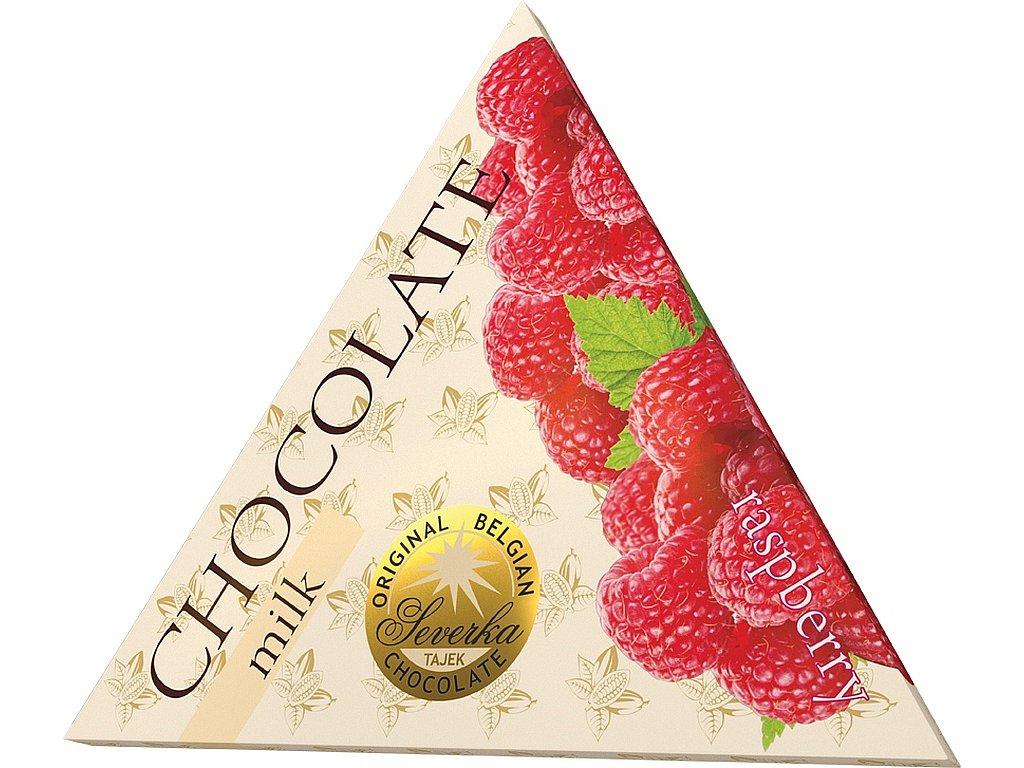 Severka Mléčná čokoláda s malinami 50g
