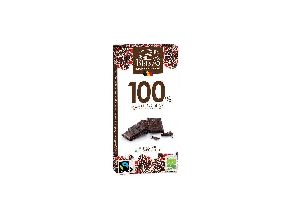 Belvas Bio a Faitrade 100 % čokoláda Criollo z Peru 90g