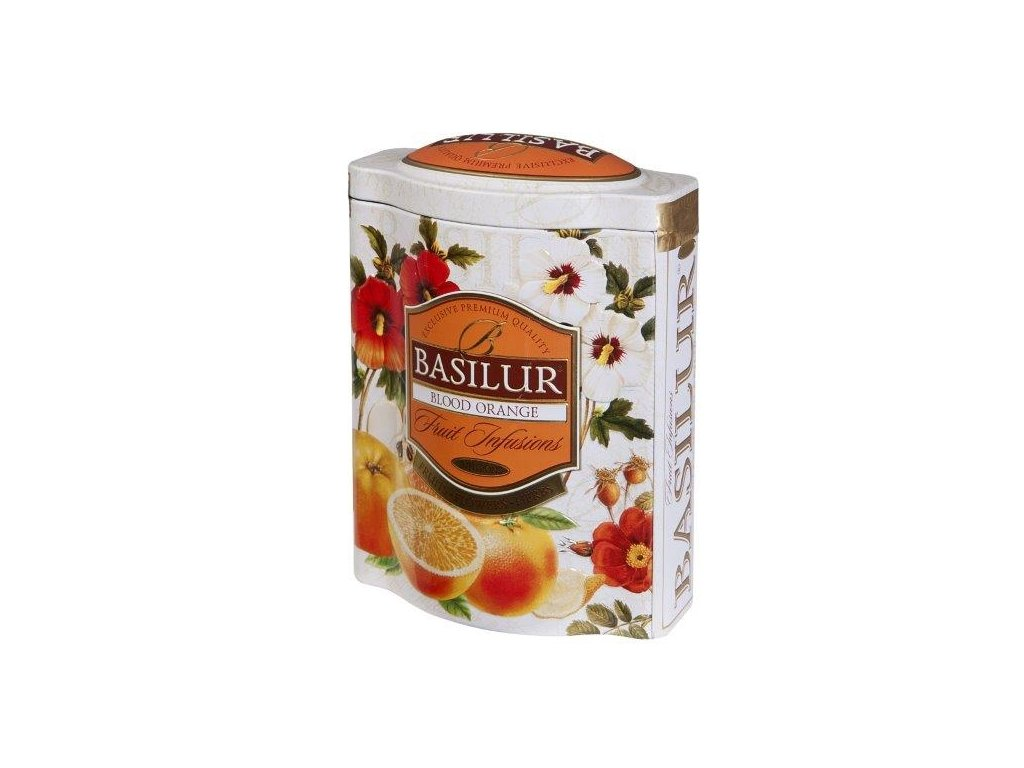 Basilur Blood Orange Ovocný sypaný čaj plech 100g