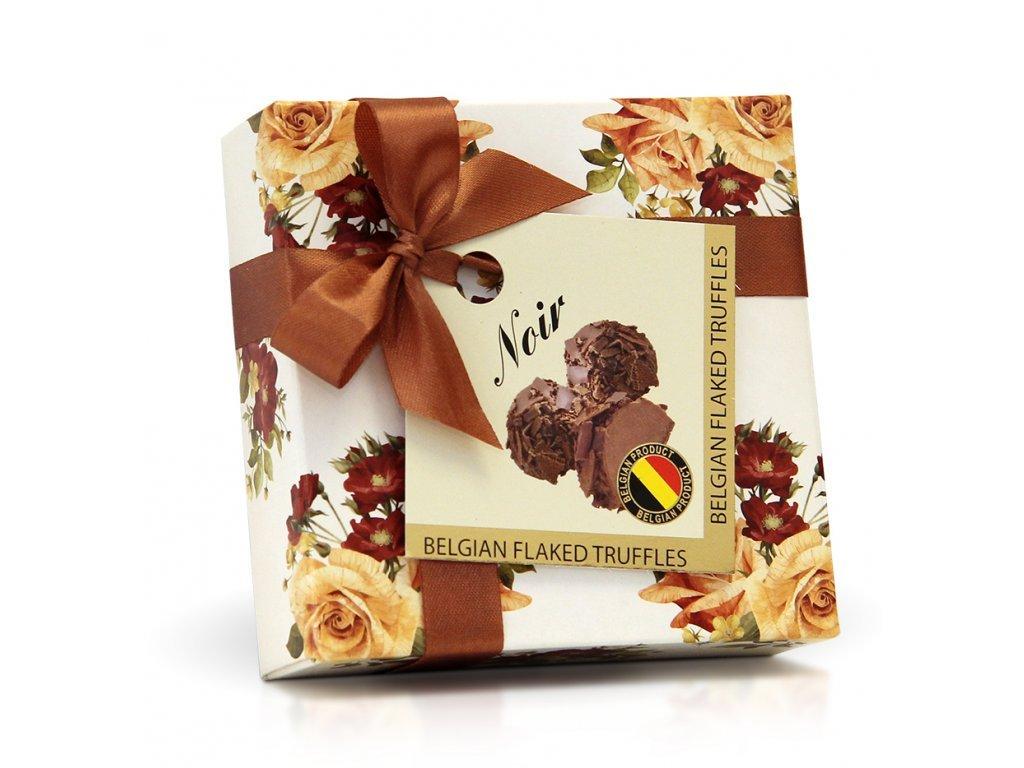 Belgické pralinky s posypem z hořké čokolády 42 g Hnědá růže
