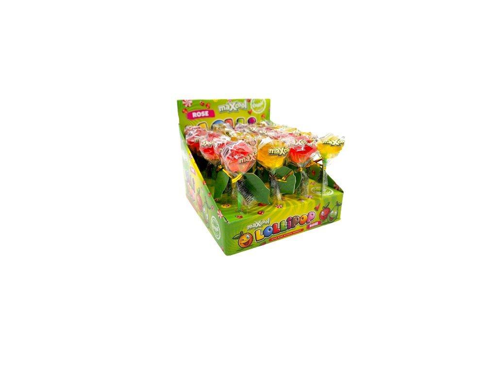 Lízátko Rose 15g 24ks