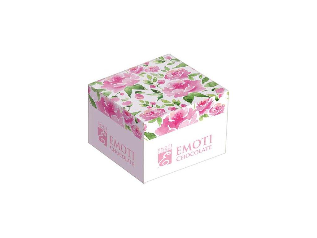 Emoti Solo Pralinka Caramel basket v krabičce s motivem květin 14g 24ks