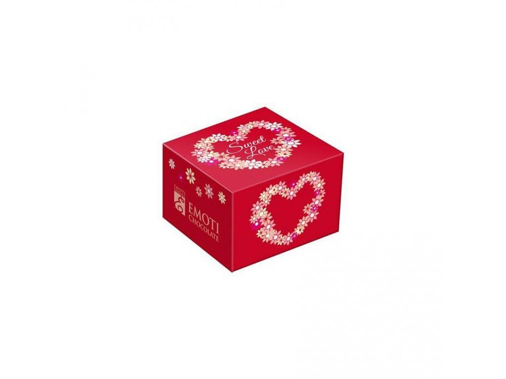 Emoti Solo 14g Pralinka s karamelovou náplní červená krabička 24ks