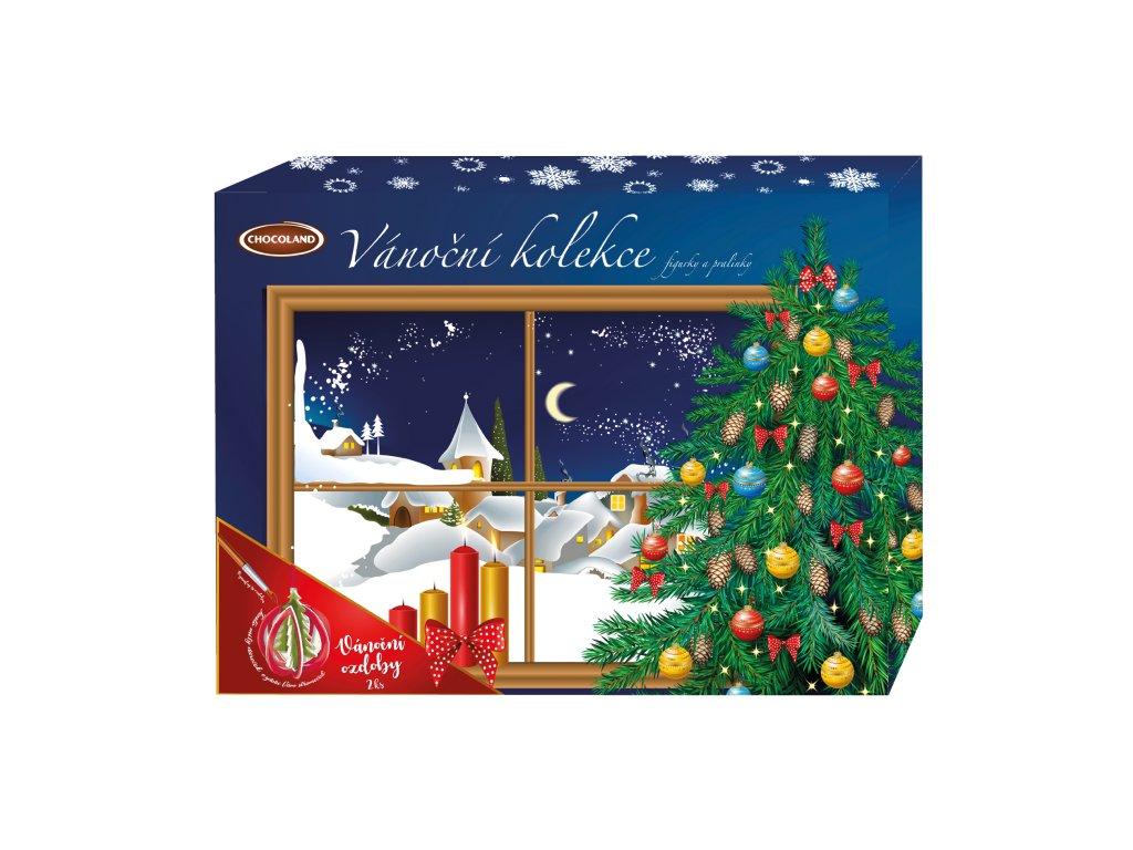 Chocoland Vánoční Kolekce Zasněžená krajina(modrá) 400g