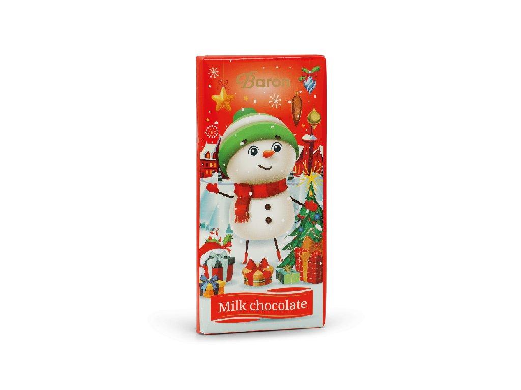 Baron Vánoční mléčná čokoláda 90g