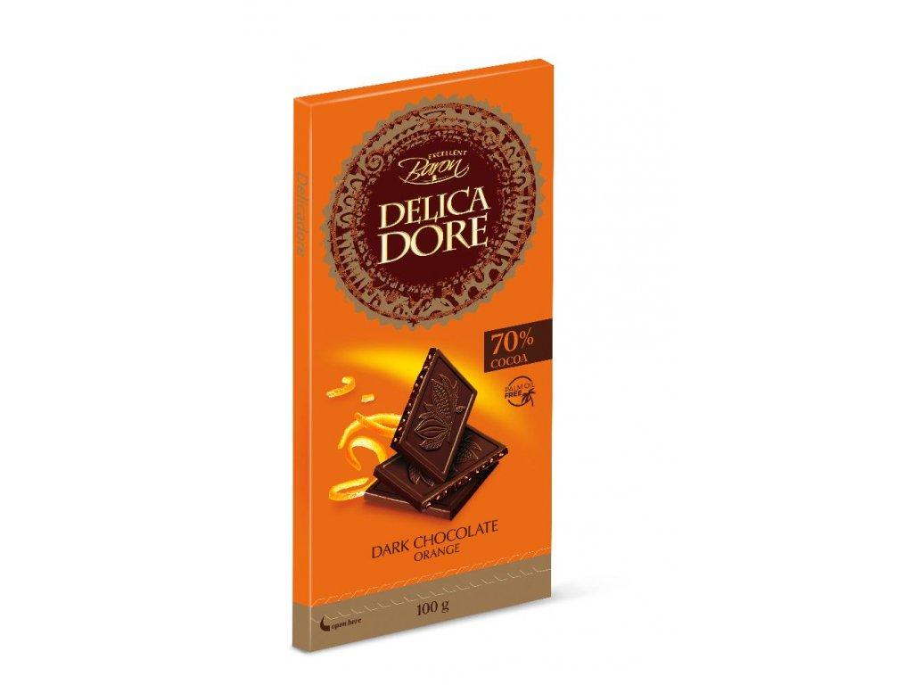 Baron DelicaDore Hořká čokoláda s kandovanou pomerančovou kůrou 100g
