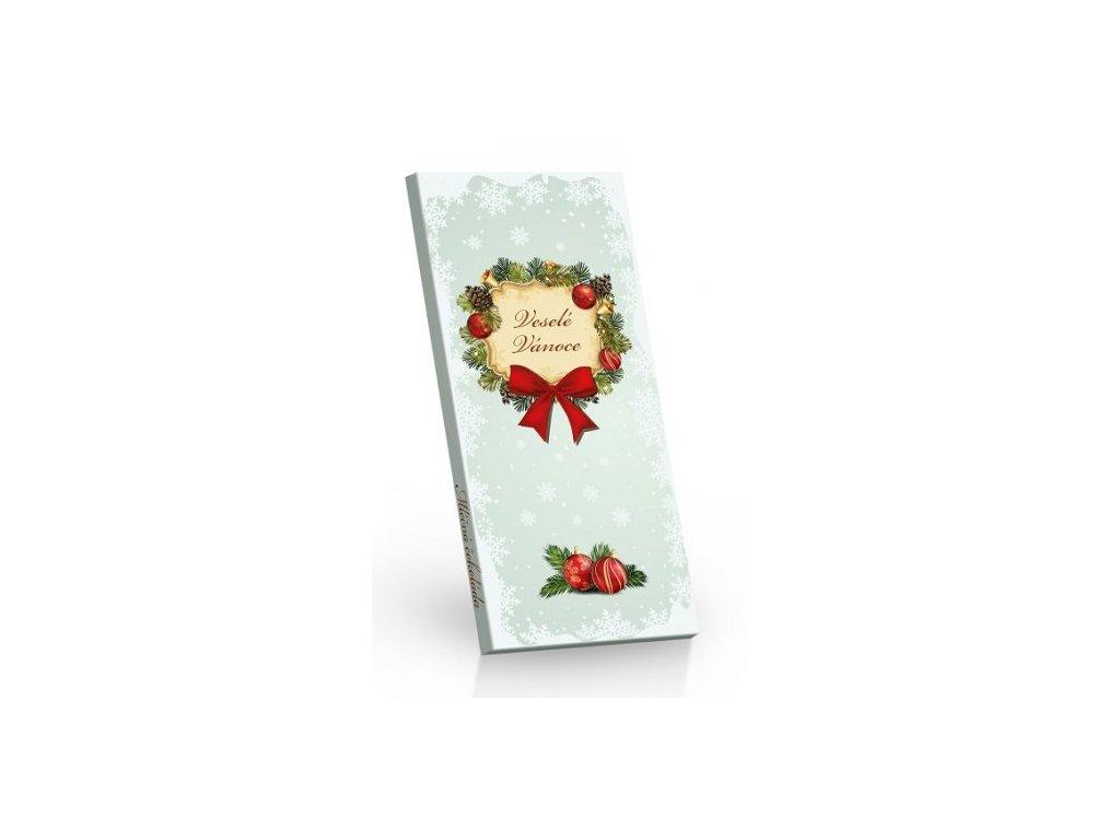 Mléčná čokoláda Vánoce Věneček 100g