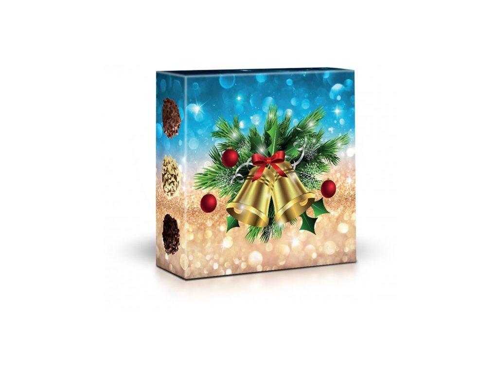 Belgické plněné čokoládové pralinky curlettes Motiv zvonky 50g