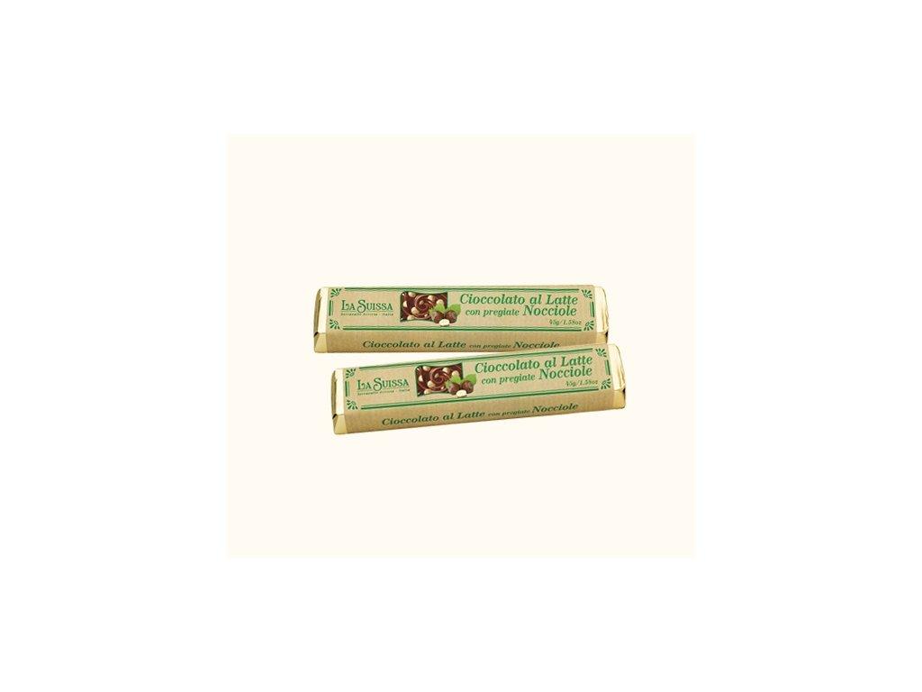 La Suissa mléčná čokoládová tyčinka s lískovými oříšky 45g