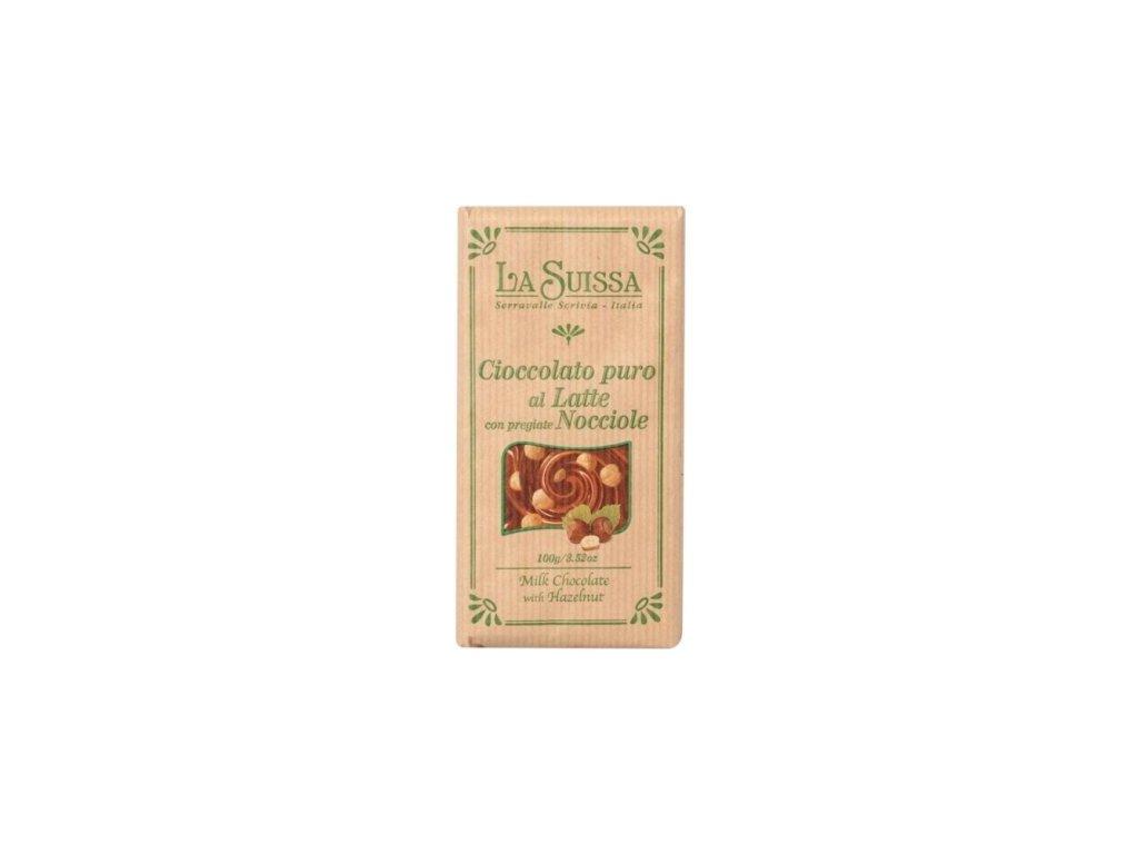 La Suissa Mléčná čokoláda s lískovými oříšky 100g