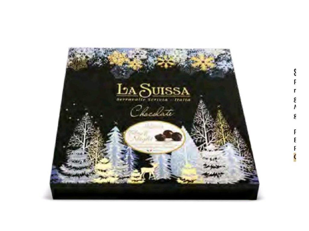 Elegantní vánoční bonboniéra La Suissa Black Night 400g