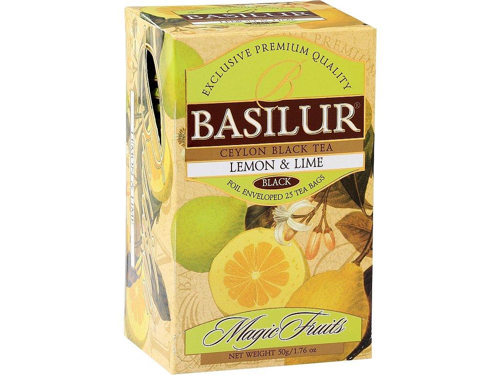 Basilur Magic Lemon & Lime přebal 25x2g