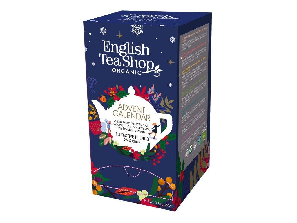English Tea Shop25 sáčků Čajový Adventní kalendář 13 příchutí bio modrá krabička