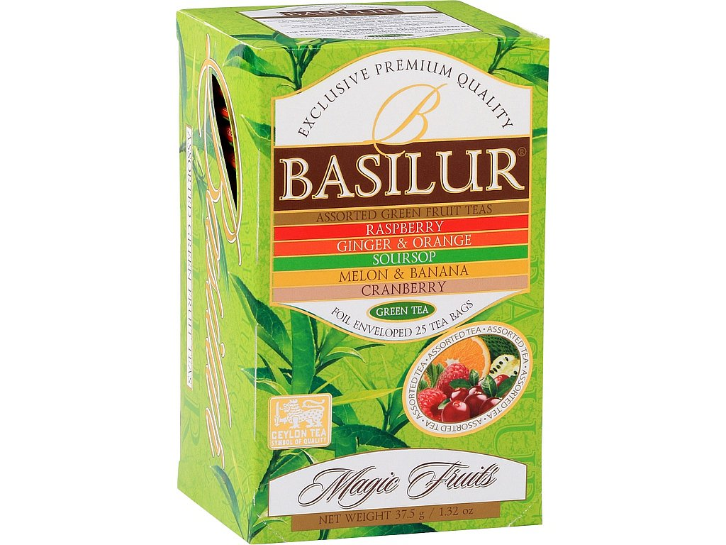 Basilur Magic Fruits Green Assorted přebal 25x1,5g