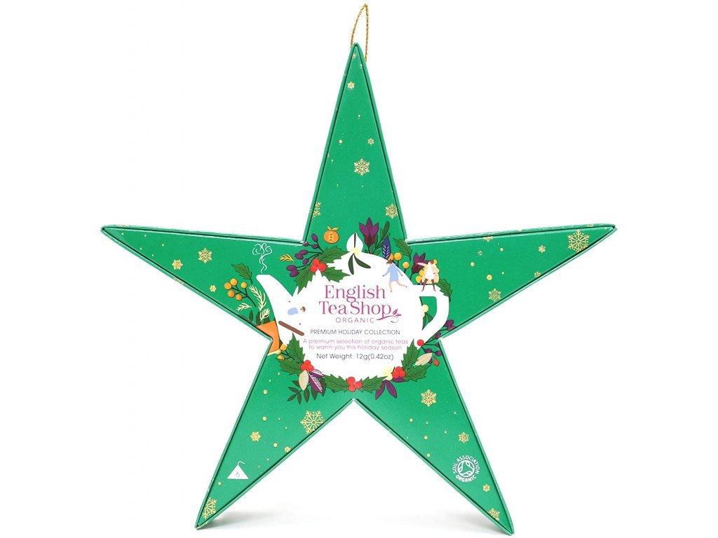 English Tea Shop Zelená vánoční hvězda 12g